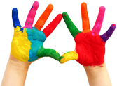 Colored Hands Photo